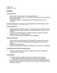 ENGL 153 Lecture Notes - Lecture 2: Close Reading, Institute For Operations Research And The Management Sciences