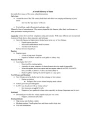 MUS 121 Lecture Notes - Lecture 1: Dixieland, 20Th-Century Classical Music, Benny Goodman