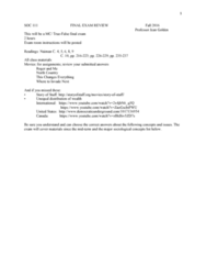 SOC 111 Study Guide - Final Guide: Garrett Camp, Economic Surplus, San People