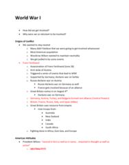 HIST206 Lecture Notes - Lecture 10: Sussex Pledge, American Protective League, Victorian Era
