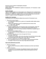 INTE 398 Chapter Notes - Chapter 2.2: Vertically Transmitted Infection, Body Fluid, Blood Transfusion