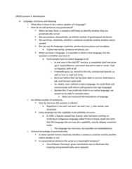LIN100Y1 Lecture Notes - Lecture 1: Language Change, Infinite Loop, Grammatical Case