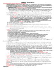 CRIM 2650 Midterm: CRIM 2650 Theories Midterm Review