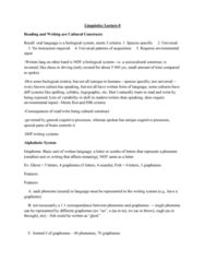 LING 1P92 Lecture Notes - Lecture 8: Word Superiority Effect, Grapheme, Phoneme