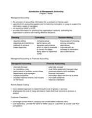 ACC 406 Chapter Notes - Chapter 1: Total Quality Management, Management Accounting, Cost Leadership