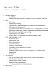 FLM&MDA 85B Lecture Notes - Lecture 13: Netflix, Dakota Territory, Hulu