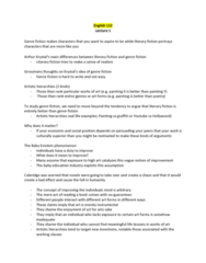 ENG 112 Lecture Notes - Lecture 1: Genre Fiction, Industrial Revolution, Kitsch
