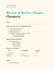 CHEM 130 Chapter R: Review of Chapter R