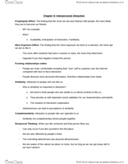 CULS20014 Lecture Notes - Lecture 3: Gender Role, Physical Attractiveness, Reciprocal Liking