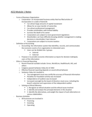 ACG-2021 Lecture Notes - Lecture 1: Healthsouth, Net Income, Financial Statement