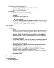CRIM 135 Lecture Notes - Lecture 3: Royal Assent, Primary And Secondary Legislation, No Authority