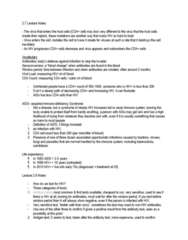 INTE 398 Lecture Notes - Lecture 2: Window Period, T Cell, Candidiasis