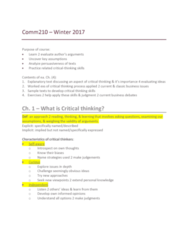COMM 210 Lecture Notes - Lecture 1: Black Market, Canadian Taxpayers Federation, Causal Inference