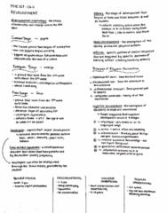 PSYC 102 Midterm: Chapter 11 (Development) Summary