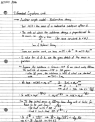 ARTSSCI 1D06 Lecture 44: Note 44 - Differential Equations cont.