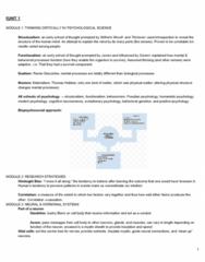 PSYC-001 Study Guide - Final Guide: Sensory Cortex, Sensory Neuron, Detection Theory