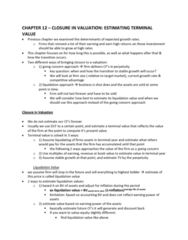 FINA 410 Lecture Notes - Lecture 12: Cash Flow, Market Risk, Tacit Assumption