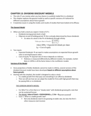 FINA 410 Lecture Notes - Lecture 13: Capital Asset Pricing Model, Risk Premium, Stok