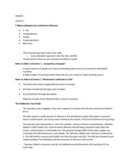ENH 424 Lecture Notes - Lecture 1: Coliform Bacteria, Legionella, Norovirus
