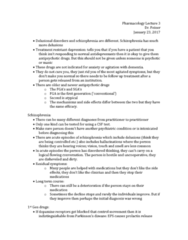 PHA 3112 Lecture Notes - Lecture 3: Dementia, Prolactin, Anticholinergic