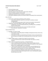PHL 333 Lecture 3: aristotle's nicomachean ethics (p2)