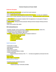 EESA10H3 Lecture Notes - Lecture 4: Biomonitoring, Diethylstilbestrol, Miscarriage