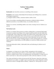 FSN 223 Lecture Notes - Lecture 1: La Sape