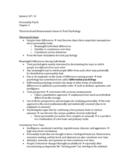 PSYC 2740 Chapter Notes - Chapter 4: Differential Psychology, Trait Theory, Silent Treatment