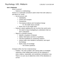 PSYCO105 Study Guide - Midterm Guide: Primitive Reflexes, Moro Reflex, Lev Vygotsky