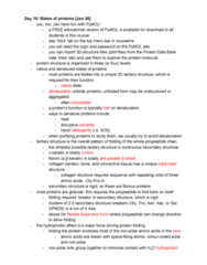 STAT 2230 Lecture Notes - Lecture 10: Green Fluorescent Protein, Helix Bundle, Myoglobin