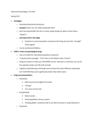 CLP 4144 Quiz: Quiz 2: Paradigms of Abnormal Psychology