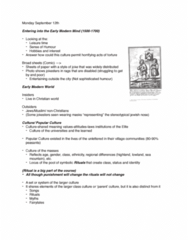 HIST 3130 Lecture Notes - Lecture 1: Satan, Common Good, Jewish Nose