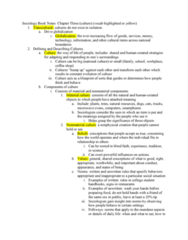Sociology SOC-R 100 Chapter Notes - Chapter Ch. 3: Toilet Training, Social Emotions, Ethnocentrism