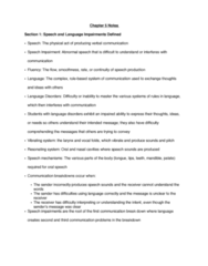 SPED 08130 Lecture Notes - Lecture 5: Speech-Language Pathology, Speech Disorder, Language Disorder