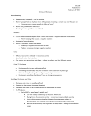 SOC100H5 Lecture Notes - Lecture 9: Youth Smoking, Moral Panic, Methamphetamine