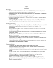 ENG 112 Lecture Notes - Lecture 3: Whodunit, Margrave, Richard Slotkin