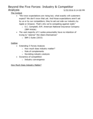 SGMA 591 Lecture Notes - Lecture 5: American National Insurance Company, Creative Destruction, Investment Banking
