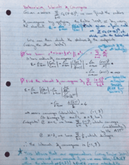 MATH 119 Lecture 13: Intervals of Convergence, Shortcuts for Finding Series