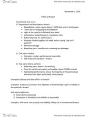 ACTG 2P40 Lecture Notes - Lecture 8: Fairy, Punitive Damages, Gie