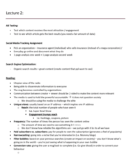Digital Communication 3209F/G Lecture Notes - Lecture 2: Conversion Marketing, Search Engine Optimization, Master Sergeant