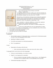 ENGL 2Q99 Lecture Notes - Lecture 4: Audre Lorde, Lorde, Bell Hooks
