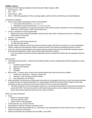SOC 808 Lecture Notes - Lecture 3: Nobel Peace Prize, Seed Drill, Plough