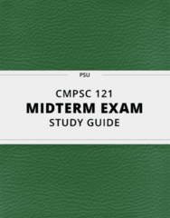 [CMPSC 121] - Midterm Exam Guide - Comprehensive Notes for the exam (16 pages long!)