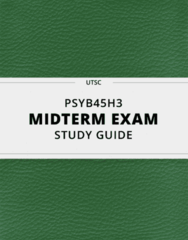 [PSYB45H3] - Midterm Exam Guide - Comprehensive Notes for the exam (153 pages long!)
