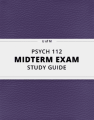 [PSYCH 112] - Midterm Exam Guide - Everything you need to know! (24 pages long)