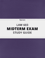 [LAW 603] - Midterm Exam Guide - Everything you need to know! (24 pages long)