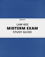 [LAW 603] - Midterm Exam Guide - Ultimate 10 pages long Study Guide!