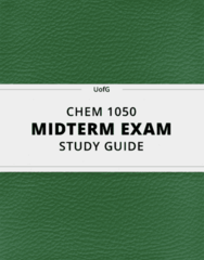 [CHEM 1050] - Midterm Exam Guide - Comprehensive Notes for the exam (22 pages long!)