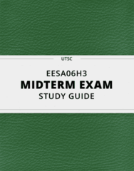 [EESA06H3] - Midterm Exam Guide - Comprehensive Notes for the exam (48 pages long!)