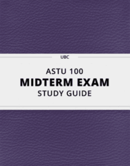 [ASTU 100] - Midterm Exam Guide - Comprehensive Notes for the exam (29 pages long!)